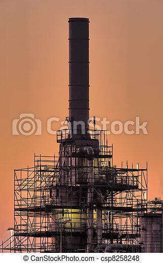 tôt, cheminée, industriel, matin - csp8258248