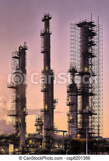tôt, industriel, raffinerie, matin - csp8201386