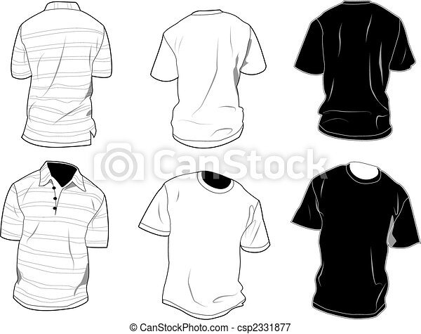 t-shirt, gabarits - csp2331877