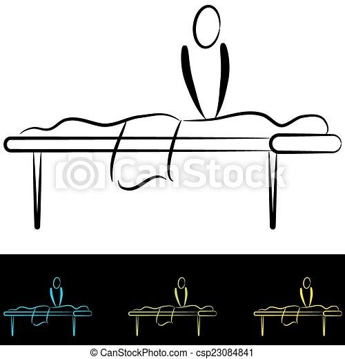 table, masage - csp23084841