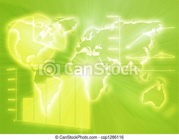 tableur, business, diagrammes - csp1286116
