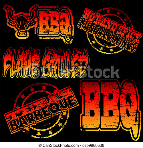 tampon, barbecue - csp9960538