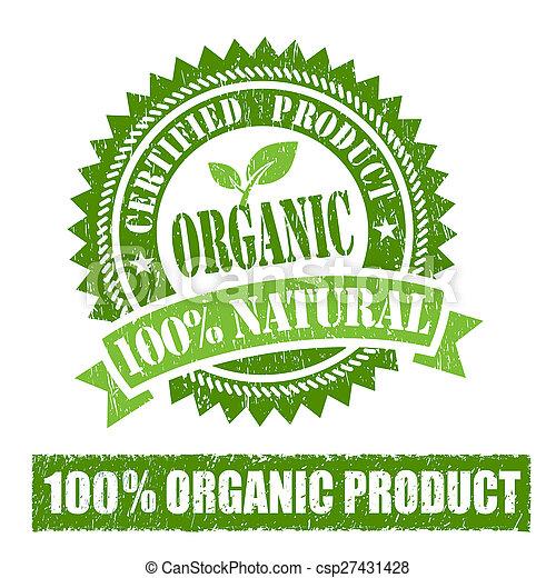 tampon, produit, organique - csp27431428