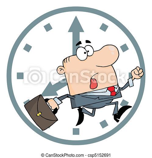tard, homme affaires, travail - csp5152691