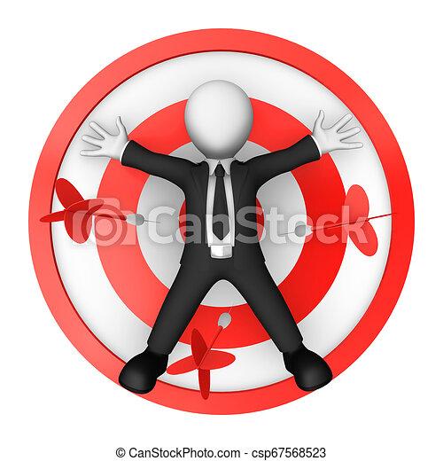 target., mensonges, 3d, centre, homme affaires - csp67568523