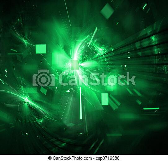 techno, explosion, numérique - csp0719386