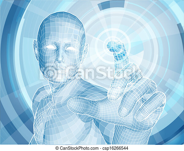technologie, app, concept, avenir, 3d - csp16266544