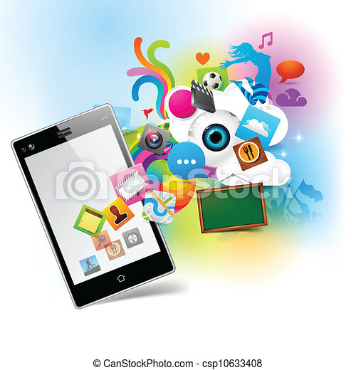 technologie, coloré - csp10633408