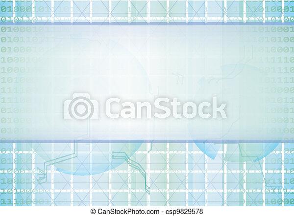 technologie pointe, résumé, vecteur, fond - csp9829578
