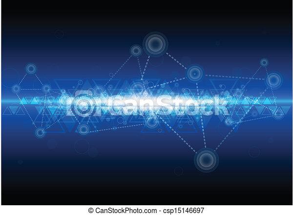 technologie, réseau, fond, numérique - csp15146697
