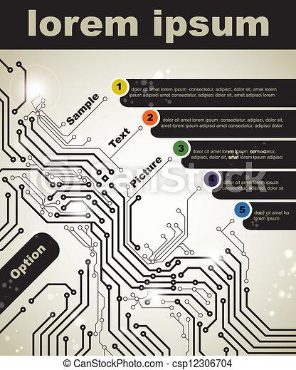 technologies, numérique - csp12306704