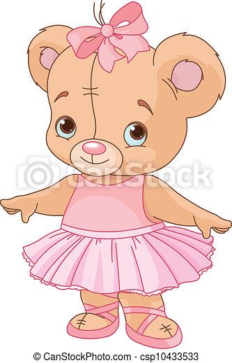 teddy, ballerine, ours, mignon - csp10433533