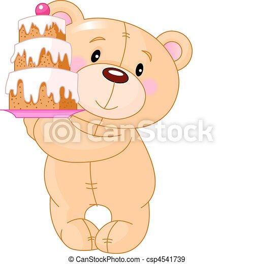 teddy, gâteau, ours - csp4541739