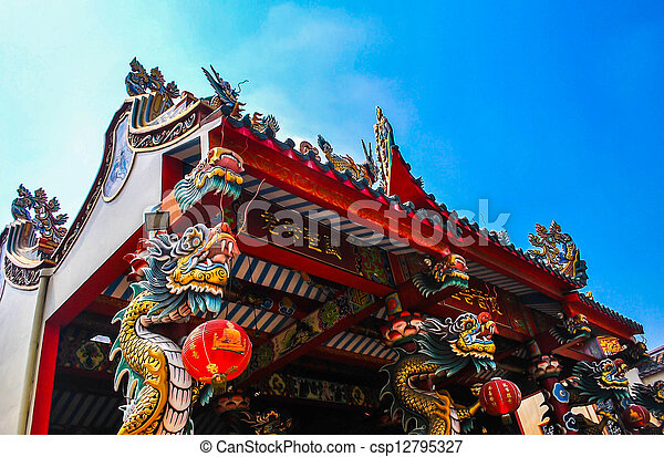 temple, chinois - csp12795327