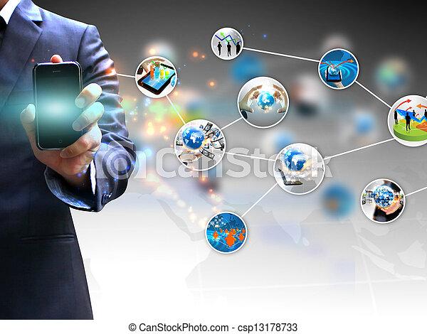 tenant main, social, média - csp13178733