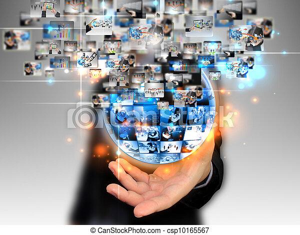 tenue, homme affaires, affaires mondiales - csp10165567