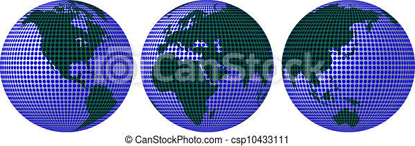 terre planète, cercles - csp10433111