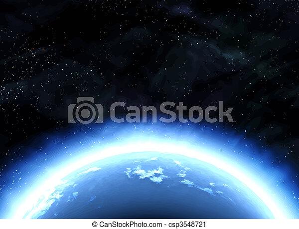 terre planète, espace - csp3548721