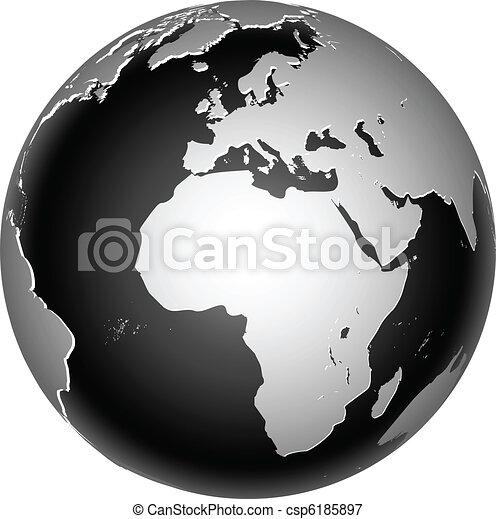 terre planète, global, icône, mondiale - csp6185897