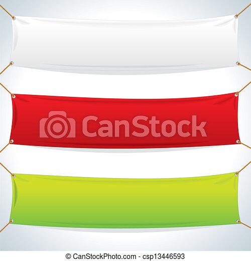 textile, banners., vecteur, gabarit, illustration - csp13446593
