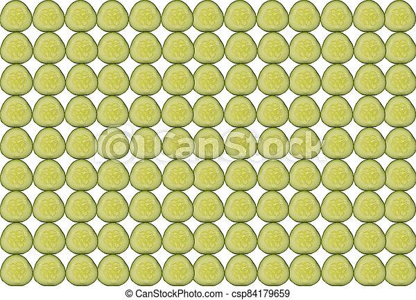 texture, côté, empilé, fond, tranches concombre - csp84179659