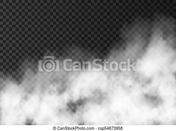 texture, transparent, isolé, blanc, brouillard, arrière-plan. - csp54873958