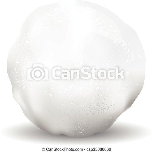 textures, objet, isolé, illustration, boule de neige, icône - csp35080660