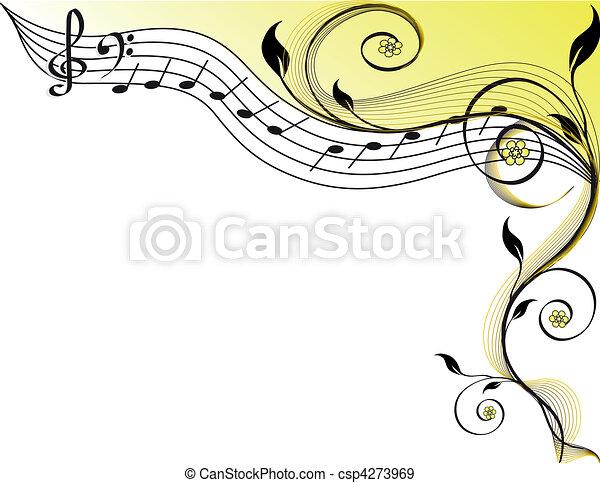 thème, musique - csp4273969