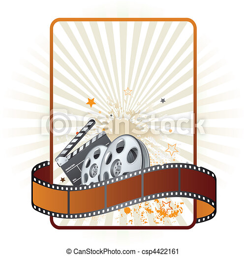 thème, pellicule, film, bande, élément - csp4422161