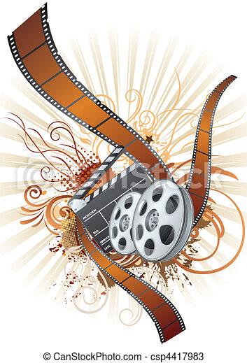 thème, pellicule, film, bande, élément - csp4417983