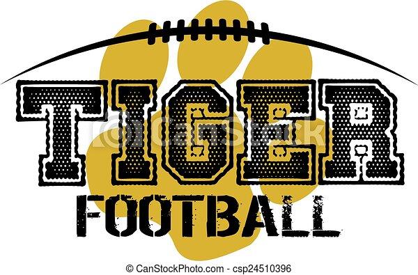 tigre, football - csp24510396