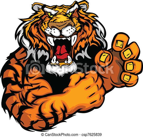 tigre, image, vecteur, mascotte - csp7625839