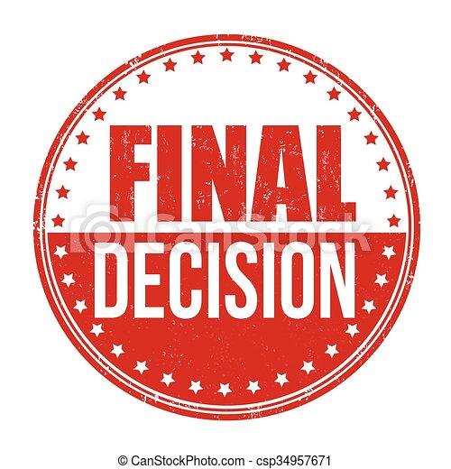 timbre, décision, final - csp34957671