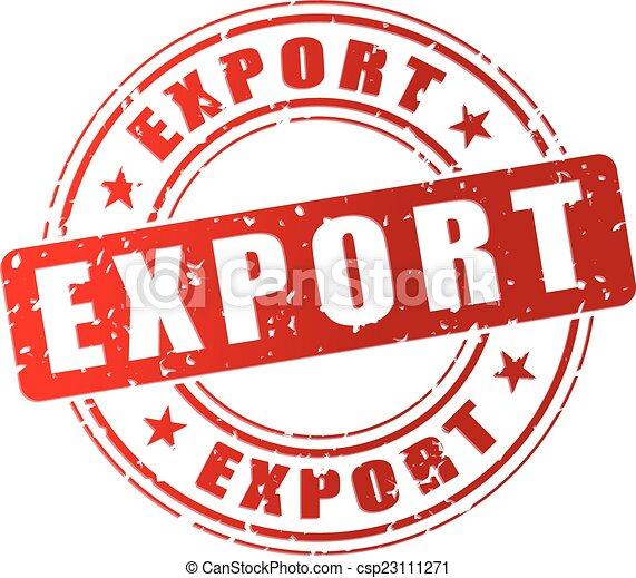 timbre, exportation, rouges - csp23111271