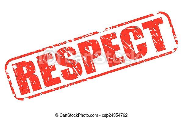 timbre, respect, rouges, texte - csp24354762