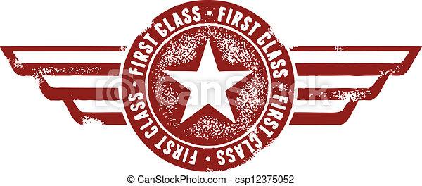 timbre, voyage, classe, premier - csp12375052