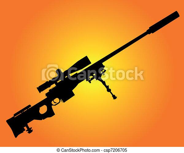 tireur embusqué, fusil - csp7206705