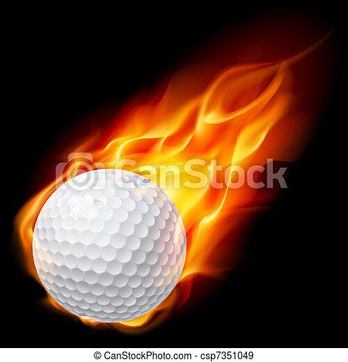 tirez boule, golf - csp7351049