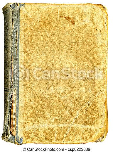 titul, livre, vide, mesquin, vieux, grand, cover. - csp0223839