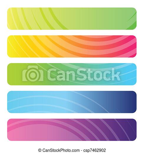 toile, bannières, ensemble, coloré - csp7462902