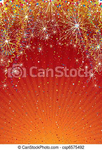 toile de fond, célébration - csp6575492