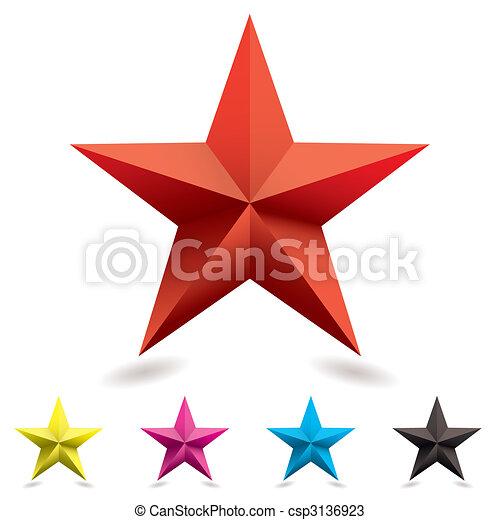 toile, forme, étoile, icône - csp3136923