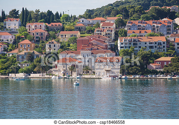 toits, maisons, rouges, coloré, dubrovnik - csp18466558