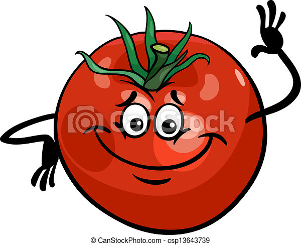 tomate, mignon, légume, dessin animé, illustration - csp13643739