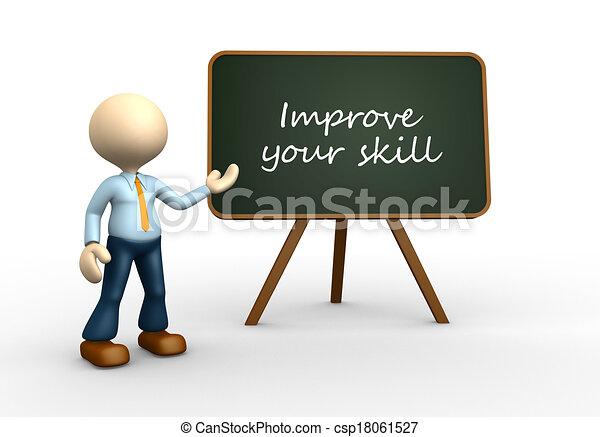 ton, améliorer, compétence - csp18061527