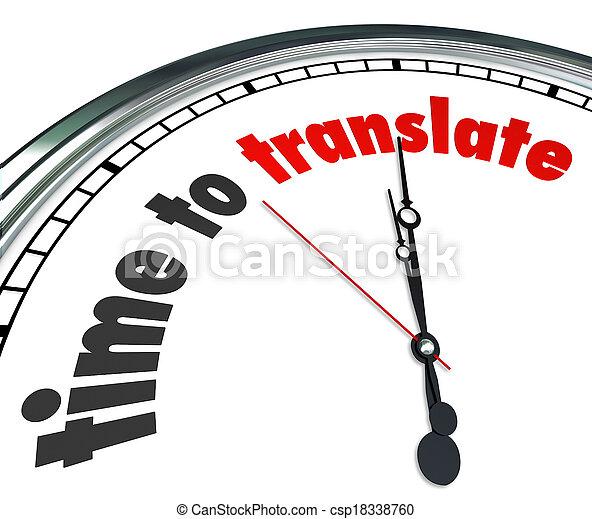 tonalité, intended, langue, horloge, communication, clair, obtenir, figure, signification, mots, autre, temps, besoin, message, traduire, mots, ou, interpréter, illustrer - csp18338760