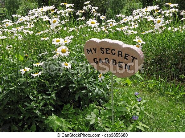 top secret, jardin - csp3855680