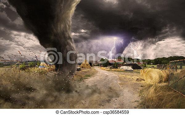 tornade, désastre, grand - csp36584559