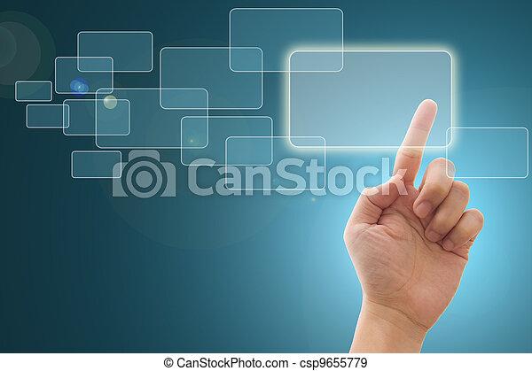 toucher, interface, écran - csp9655779