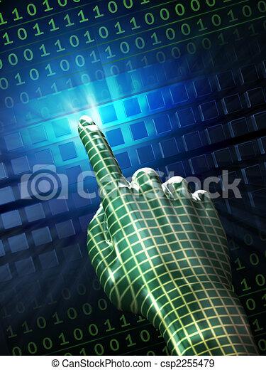 toucher, numérique - csp2255479